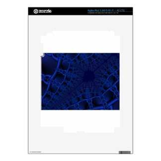 Electric Blue fractal iPad 3 Decal