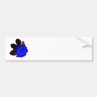 Electric Blue Glow Daffodil Bumper Sticker