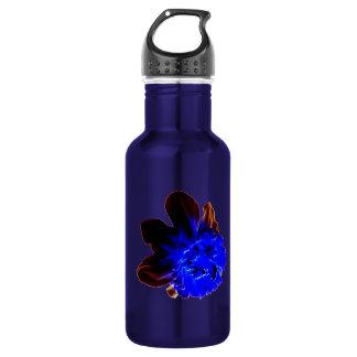 Electric Blue Glow Daffodil Stainless Steel Water Bottle