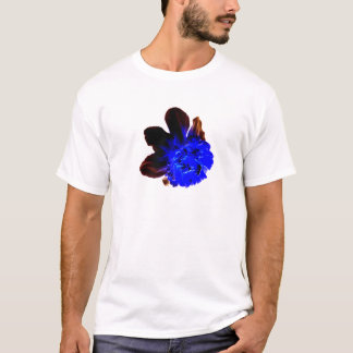 Electric Blue Glow Daffodil T-Shirt