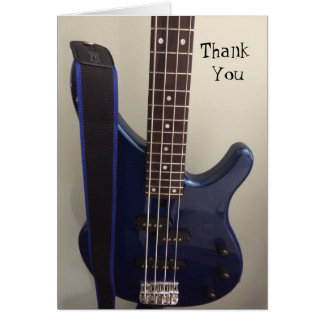 Electric Blue Guitar Thank You Card