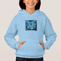 Electric Blue Hearts & Stars Kids' Hoodie Swtshirt