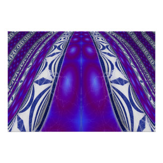 Electric Blue Highway Poster