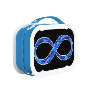 Electric Blue Infinity Lunch Box