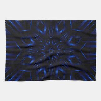 Electric Blue Kaleidoscope Kitchen Towel