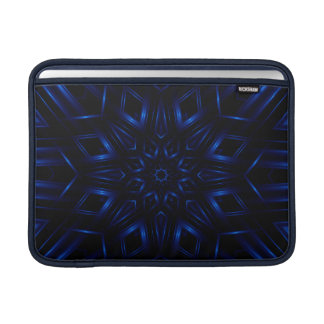 Electric Blue Kaleidoscope Macbook Air Sleeve