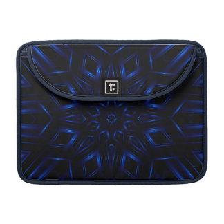 "Electric Blue Kaleidoscope Macbook Pro 13"" Sleeve"