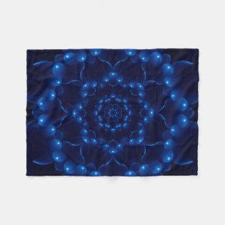 Electric Blue Kaleidoscope Mandala Fleece Blanket