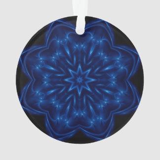 Electric Blue Kaleidoscope Ornament