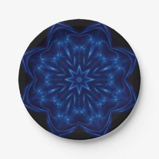 Electric Blue Kaleidoscope Paper Plates