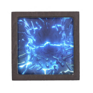 Electric Blue Keepsake Box