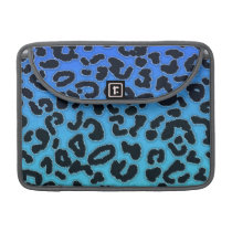 Electric Blue Leopard Animal Print MacBook Pro Sleeve