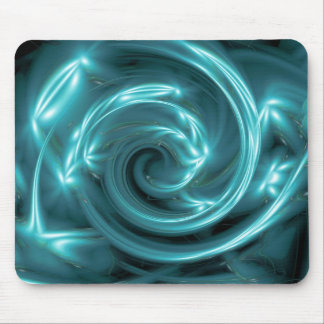 Electric Blue Light Effect Mouse Pad