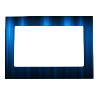 Electric Blue Light on Dark Magnetic Photo Frames