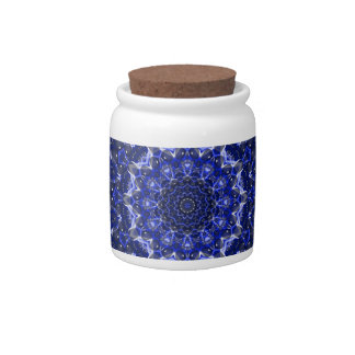 Electric Blue Mandala Candy Dishes