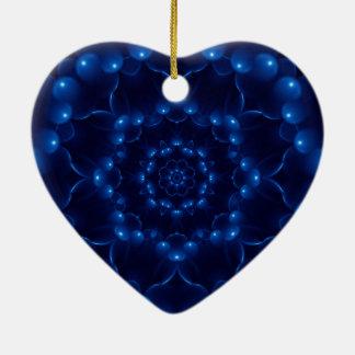 Electric Blue Mandala Ceramic Ornament