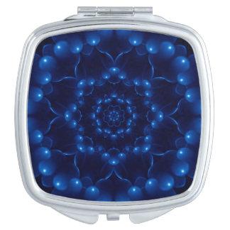 Electric Blue Mandala Compact Mirror