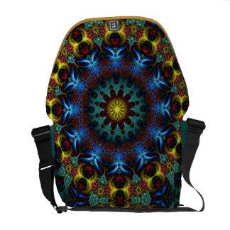 Electric Blue Mandala Lace Messenger Bag