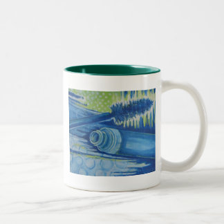 Electric Blue Mascara Two-Tone Coffee Mug