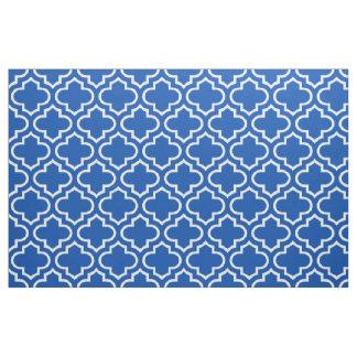 Electric Blue Moroccan Trellis Pattern Fabric 02