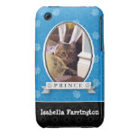 Electric Blue Paw Print Case-Mate iPhone 3 Cases