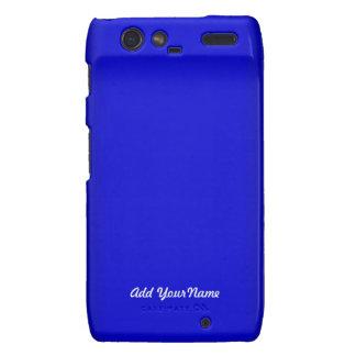 Electric Blue Personalize Droid RAZR Cover