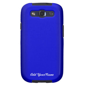 Electric Blue Personalize Samsung Galaxy S3 Case