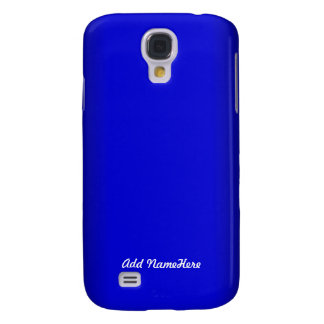 Electric Blue Personalize Samsung Galaxy S4 Covers