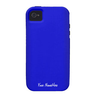 Electric Blue Personalize Vibe iPhone 4 Cases