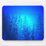 Electric blue pines mouse pads