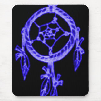 'Electric Blue Sleep' Mouse Pad