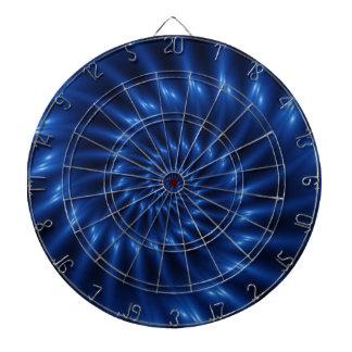 Electric Blue Spiral Fractal Dart Board