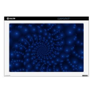 "Electric Blue Spiral Fractal Laptop 17"" Skin 17"" Laptop Decals"