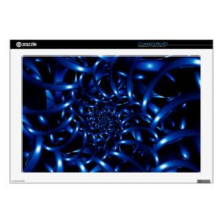 """Electric Blue Spiral Fractal Laptop 17"""" Skin Skin For Laptop"""