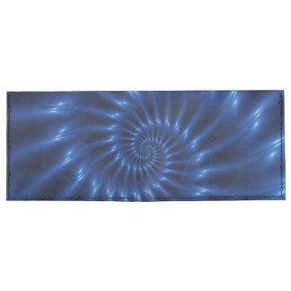 Electric Blue Spiral Fractal  Wallet
