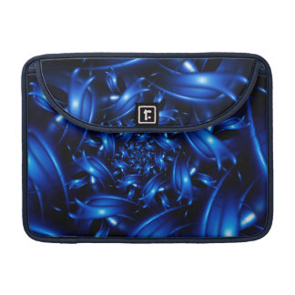 "Electric Blue Spiral FractalMacbook Pro 13"" Sleeve"
