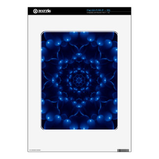 Electric Blue Spiral iPad Skin