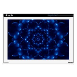 """Electric Blue Spiral Mandala Laptop 17"""" Skin 17"""" Laptop Decals"""