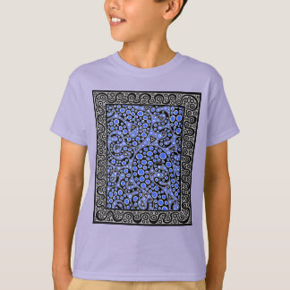 Electric Blue Squiggles T-Shirt