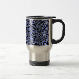 Electric Blue Squiggles Travel Mug
