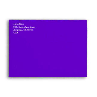 Electric blue stained glass envelope