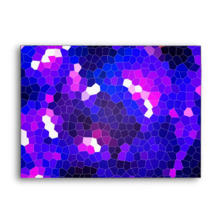 Electric blue stained glass envelopes