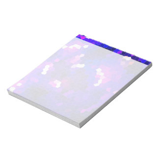 Electric blue stained glass notepad