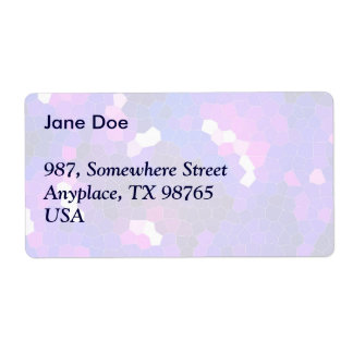 Electric blue stained glass shipping label