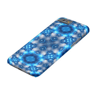 Electric Blue Stars Kaleidoscope Mandala Barely There iPhone 6 Case