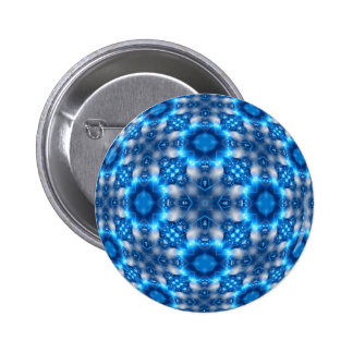 Electric Blue Stars Pinback Button