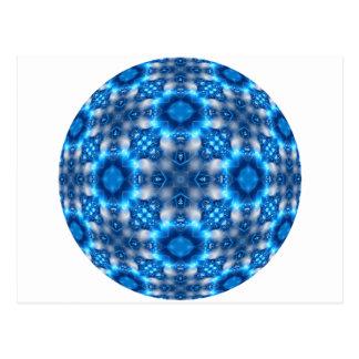 Electric Blue Stars Postcard