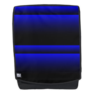 Electric Blue Stripes Backpack