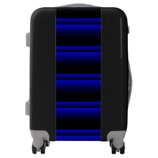 Electric Blue Stripes Luggage