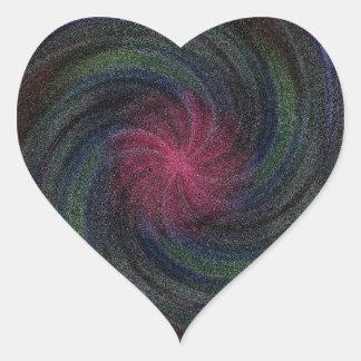Electric Blue Swirl Heart Sticker